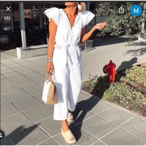 Zara denim rustic jumpsuit! Bloggers pick